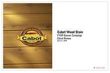 CABOT Wood Stain Banners