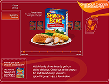 KRAFT Shake N Bake WebSite Build