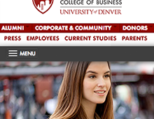 Denver University – Daniels College of Business Mobile WebSite