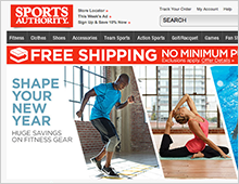 Sports Authority – SHAPE YOUR NEW YEAR Home Page